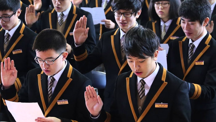 1. In South Korea, high school students have double shifts every day that makes for around 12-13 hours at school.