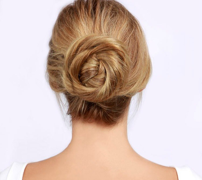 1. Twisted bun hairstyle
