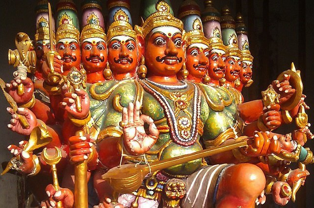 Ravana, the primary antagonist in the Hindu epic Ramayana, was one of the greatest devotees of Lord Shiva