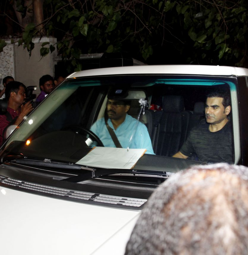 Elder brother Arbaaz Khan was spotted entering Salman