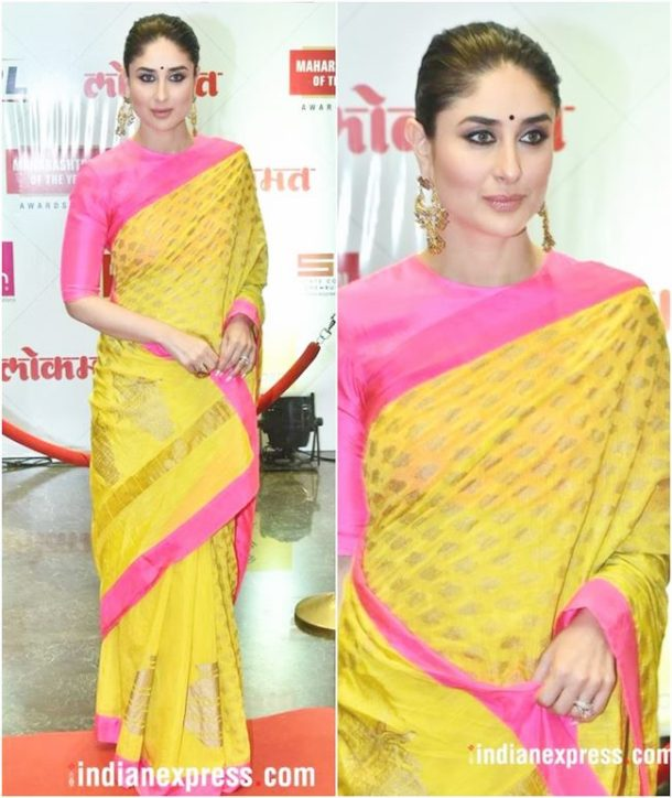 HIT: Kareena Kapoor Khan was at the Lokmat Maharashtrian of the Year Awards on Tuesday, where she was felicitated with the title of 'Power Icon'.