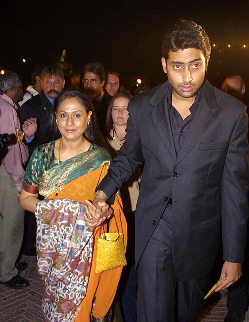 Abhishek Bachchan and Jaya Bachchan.