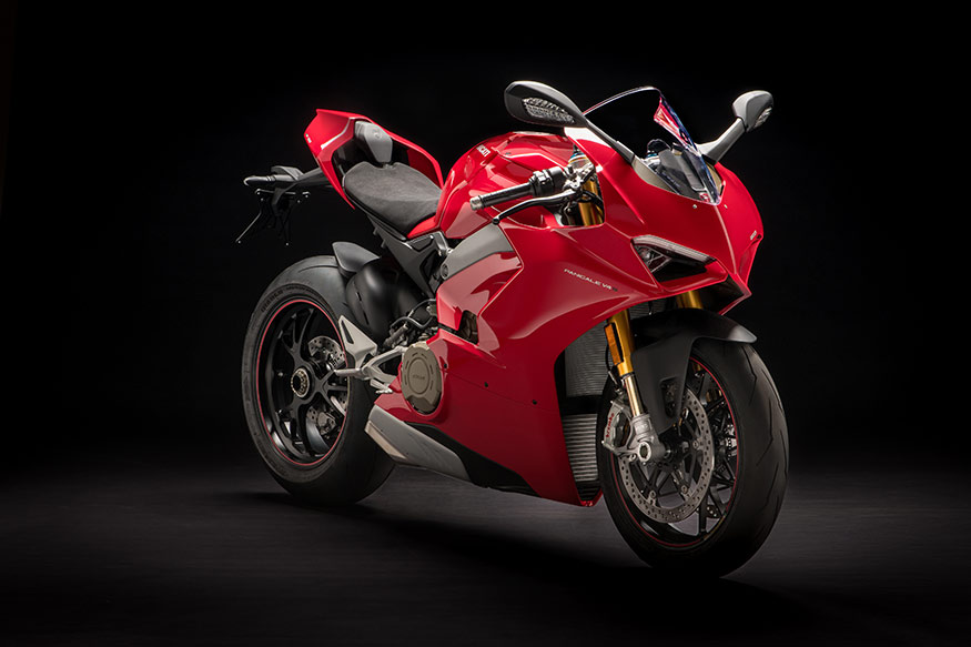Ducati Panigale V4 has an imposing stance.