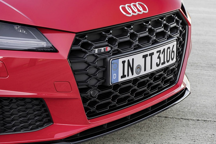 The most obvious change to the exterior styling of the TT is the adoption of Audi