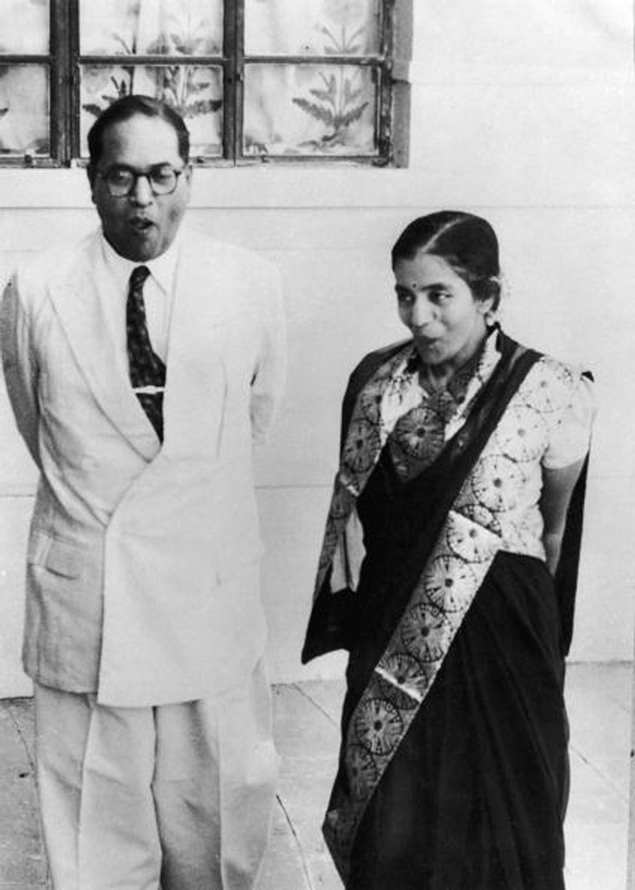 Dr Bhimrao Ramji Ambedkar, the Indian Minister for Law and leader of the Dalits, marries Dr Sharda Kabir of the Brahmin caste in New Delhi
