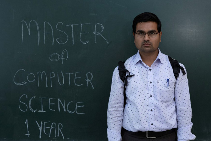 "Pankaj Kumbhakarn, a 27-year-old Master of Computer Science (MCS) graduate: ""These days I am very depressed. Now my age of learning is also passing by. I need to get a job. Each and every day is difficult to pass."""