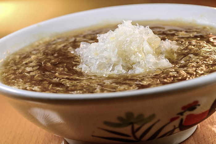Bird's Nest This $3000 per pound soup has some controversy surrounding it. While it doesn't have actual meat in it, it's made from the actual nest of the swiftlet bird. They're an endangered species, so eating their nests and putting them in soup probably isn't the best idea.