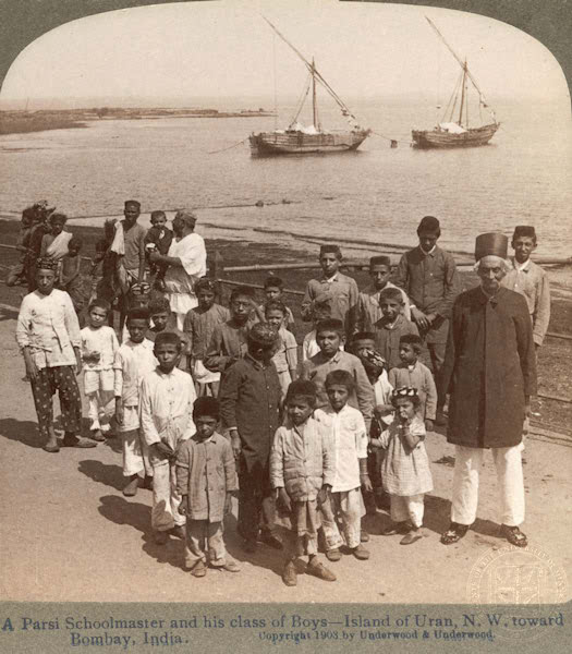 Parsi headmaster and his students — Uran, Navi Mumbai