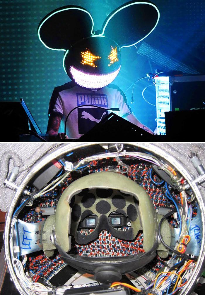 Inside of DJ Deadmau5's iconic helmet
