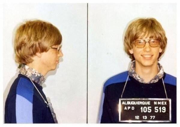Bill Gates' mug shot [1975].