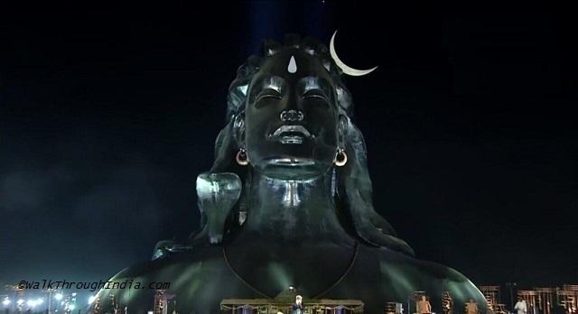 Adiyogi Shiva Statue Isha Yoga Center, Coimbatore 112 ft (34 metres)