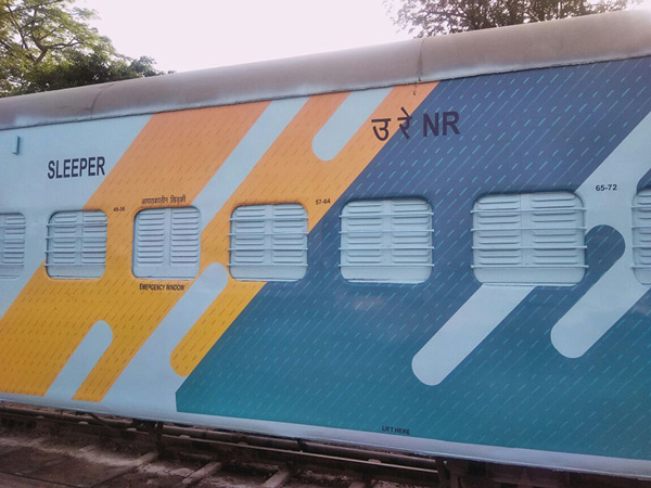 According to a ministry statement, the Northern Railways has used a new colour scheme on ICF design sleeper coaches on the directions of the Railway Board.