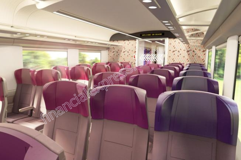 he first train set will have 16 chair-car type coaches - executive and non-executive.