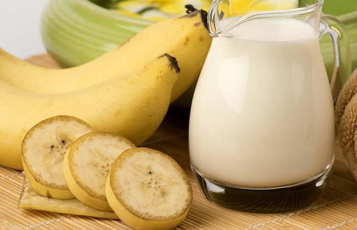 3. Banana and coconut milk hair mask
