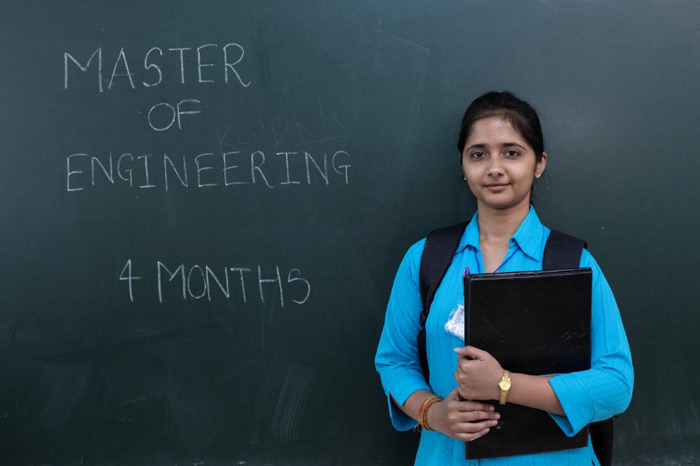 "Gayatri, a 24-year-old Master of Engineering (M.E) graduate: ""I don't want to sit at home. I want to find a job that suits my capabilities."""