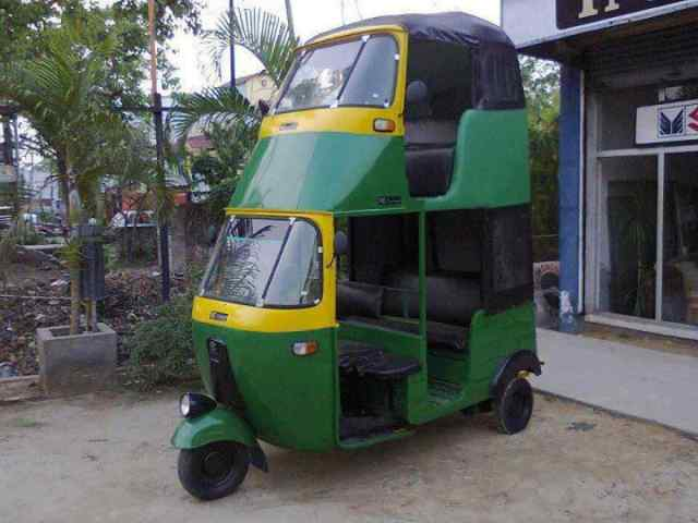 Double-decker Auto Rickshaw