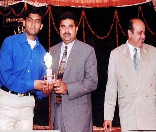 Kapil in college, winning trophies and making his teachers proud!