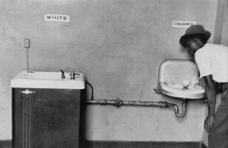 Racial segregation in North Carolina, USA, in 1950.