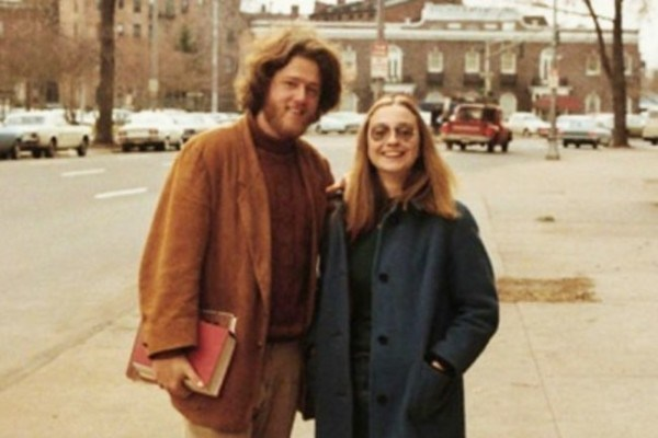 Bill and Hillary Clinton in their Yale days as college sweethearts [1970s].