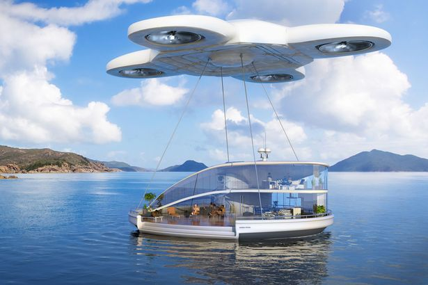 Kitchen sink: Drones could take ALL our possessions on holiday with us