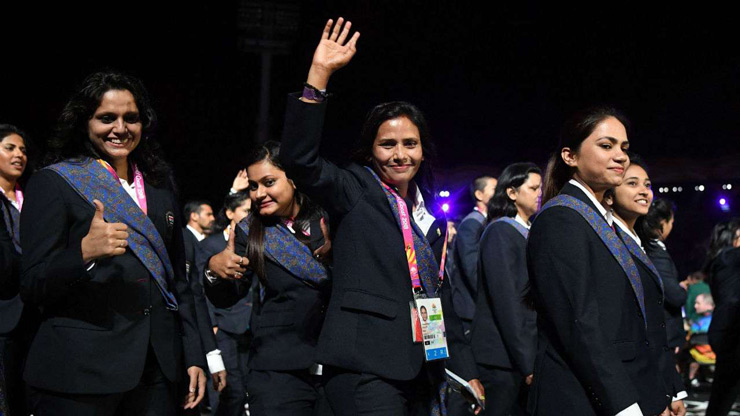 Indian players at the CWG opening ceremony