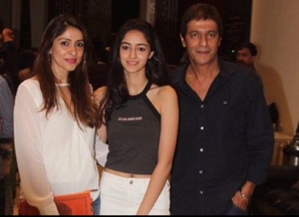 Bhavna Pandey and Chunky Pandey have two daughters – Ananya and Rysa.