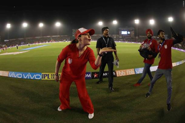 Preity Zinta was overjoyed after her sides victory over Chennai Super Kings.