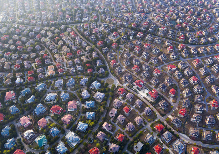 4.A suburban neighborhood in Wuhan, Hubei, China, viewed on March 11, 2016.
