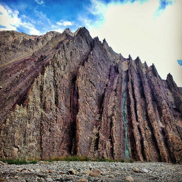 A beautiful rock formation, somewhere in Ladakh.