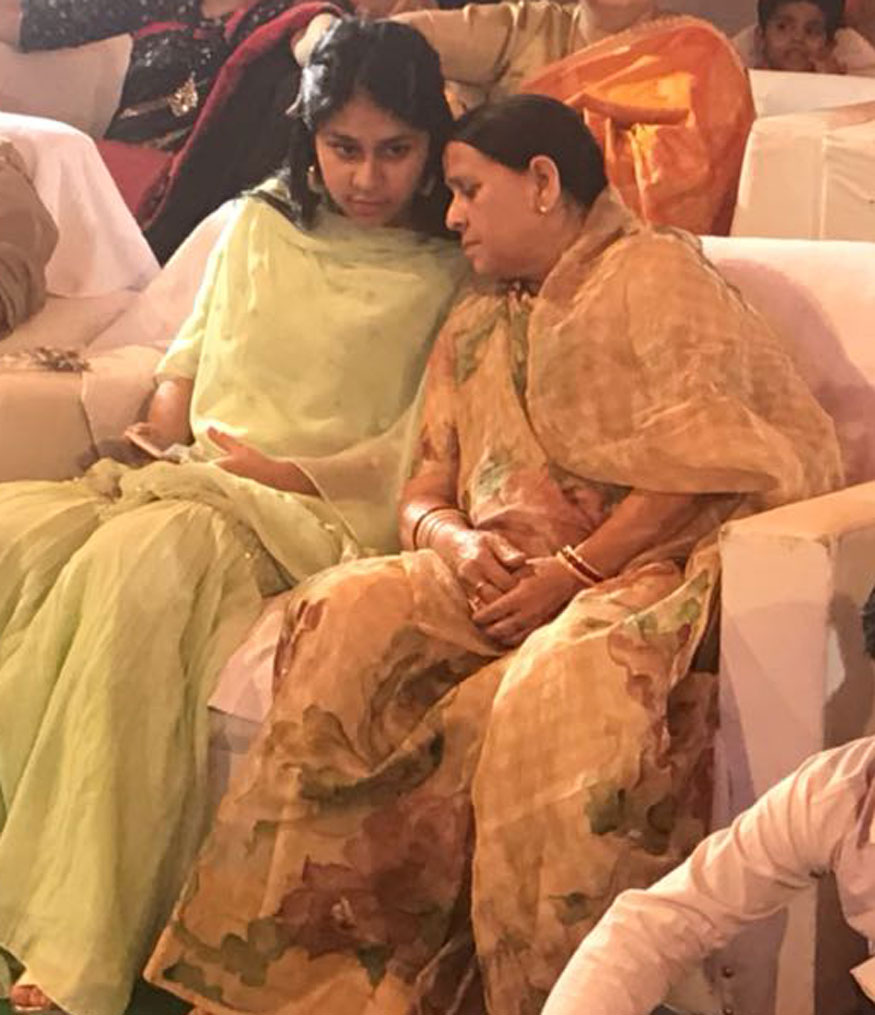 Lalu's wife and former CM Rabri Devi during the mehendi ceremony