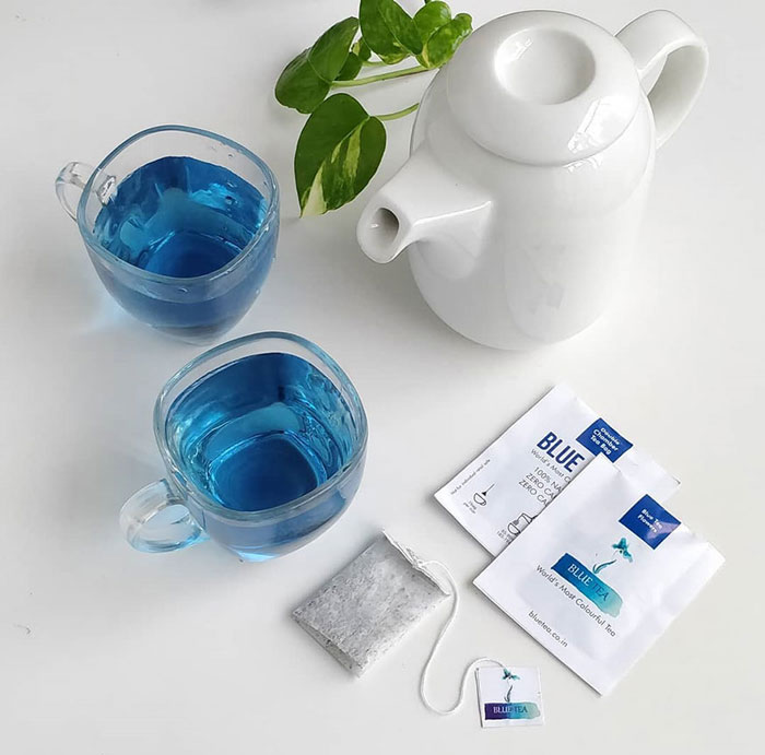 Blue Tea is highly effective in weight loss and the credit goes to its Catechins content that aid fat burning by boosting metabolism and initiating thermogenesis.