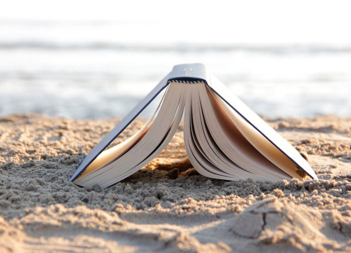 4. Selling books at a luxury resort on an island paradise