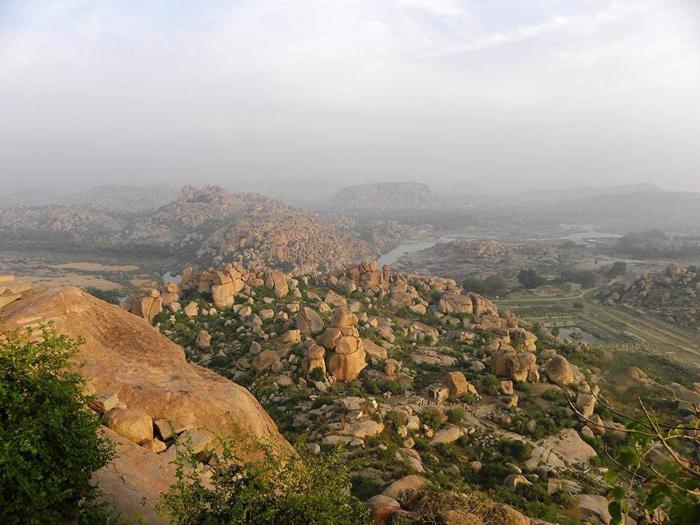 4. To get a panoramic view of Hampi, climb Matanga Hill.