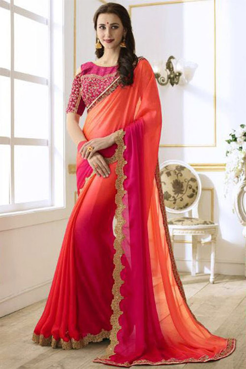 4. If you have a blouse with heavy design on it, you can team it up with different sarees, skirts and palazzos for a really interesting ensemble.