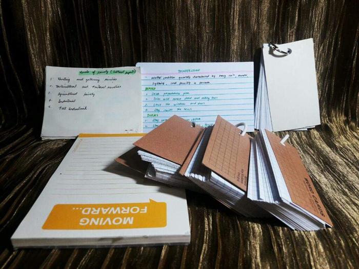 4. Make flashcards to learn essential concepts, quotes, definitions and formulas.