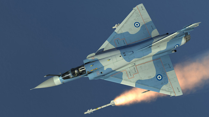 The Mirage 2000-5 can also fire the MBDA Super 530D missile or the MBDA Sky Flash air-to-air missile as an alternative to the MICA missile.