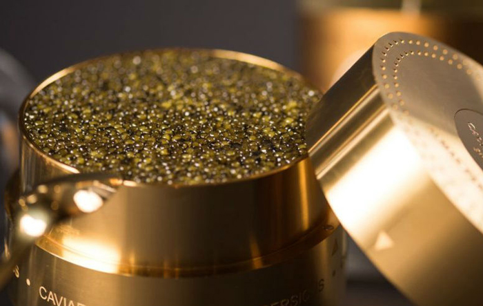 Almas Caviar Caviar already is expensive, but take an exclusive caviar and put it in a golden box and you can charge $25,900 per box.