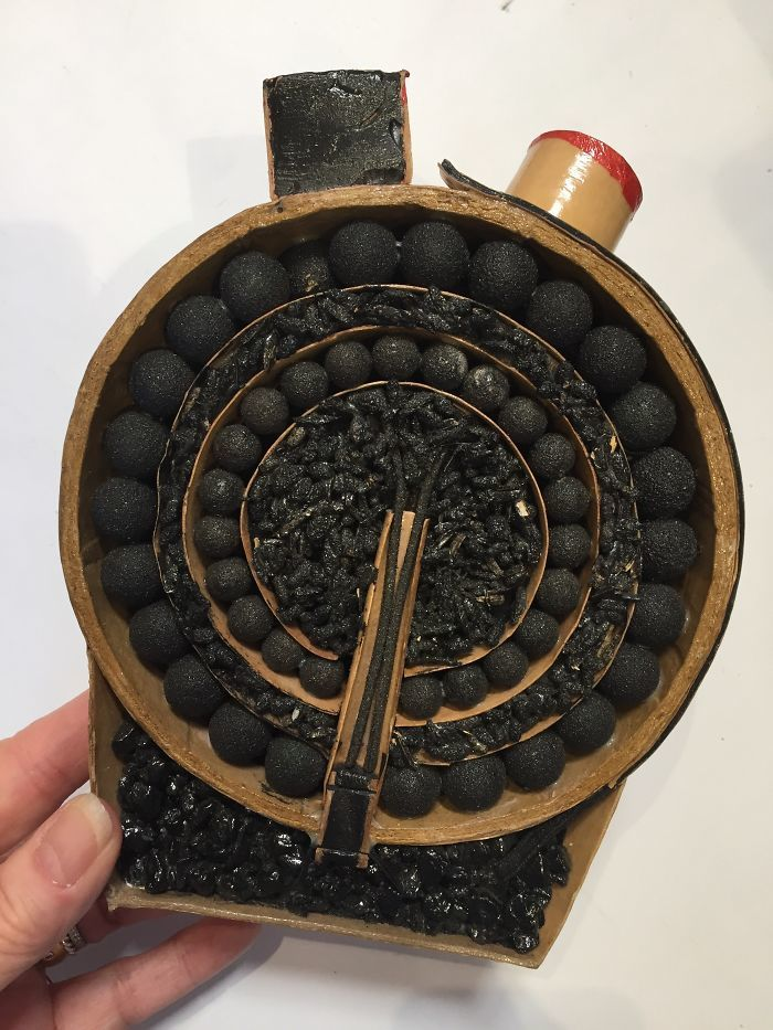Inside of a firecracker shell