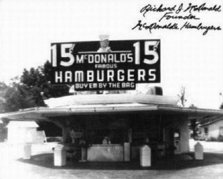 Retro photo of the first McDonald