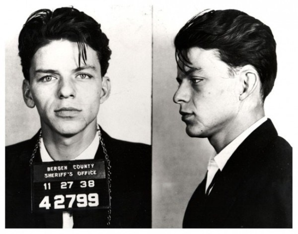 23-year-old Frank Sinatra after he was arrested for adultery and seduction, a crime at the time [1938].