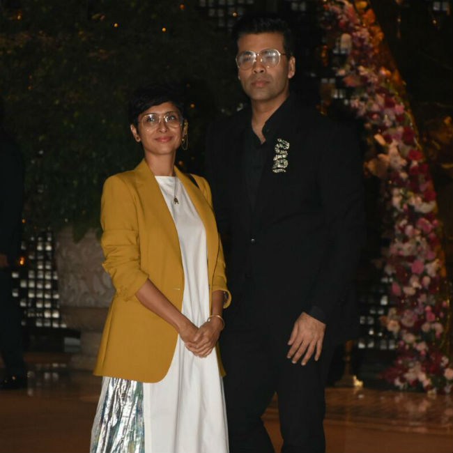 Karan Johar and Kiran Rao posed together.