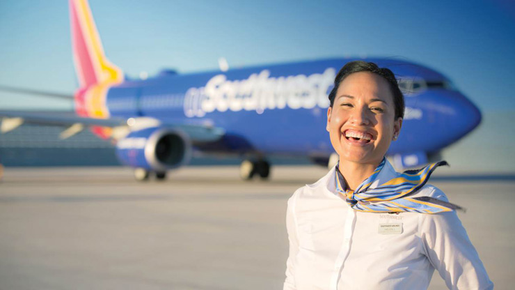 Southwest Airlines | World's largest airline by market value ($33.6 billion, Forbes) ranks sixth on the Travellers' Choice Awards for Airlines in 2018. Southwest operates about 4,000 weekday departures among a network of 100 destinations in the US and 10 additional countries. Overall, it serves 120 million passengers annually.