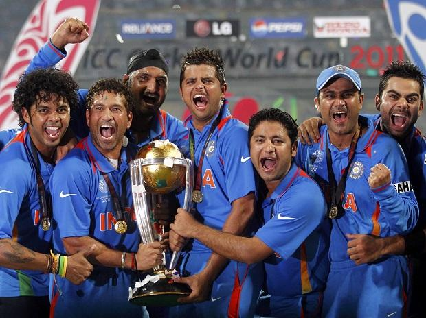 TEAM INDIA AFTER WINNING THE CUP