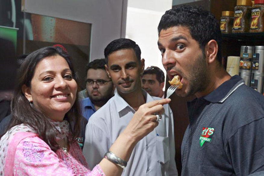 Shabnam Singh and Yuvraj Singh.