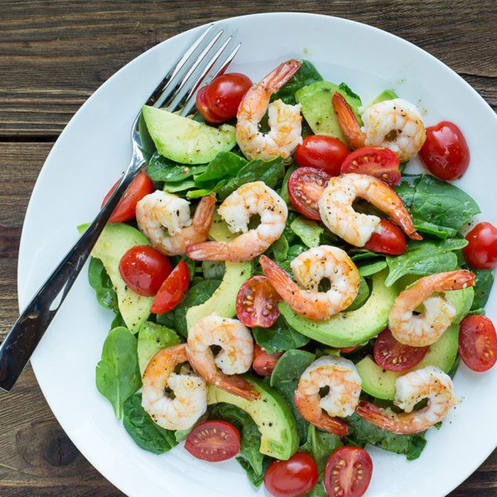 5. Spinach & Shrimp Salad