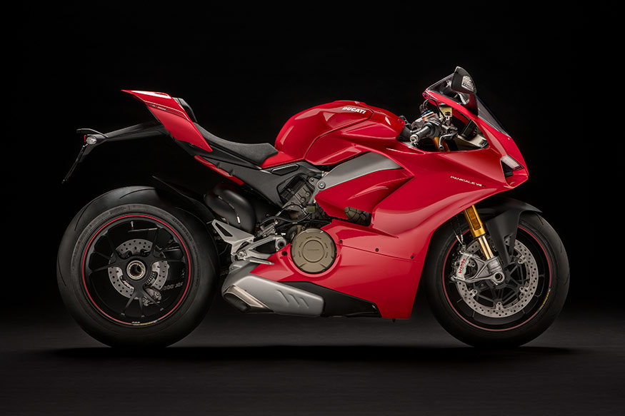 Ducati Panigale V4 from the side.