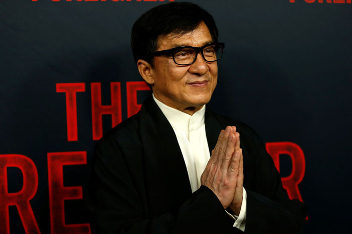 5. Jackie Chan earned $45.5 million after appearing in six Chinese films, including action flicks