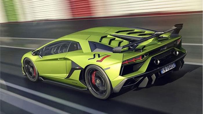 Lamborghini SVJ Green Pit rear.