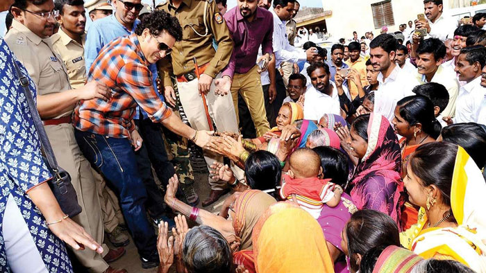 5. Adopt 725 villages like Donja, which was adopted by Sachin Tendulkar.