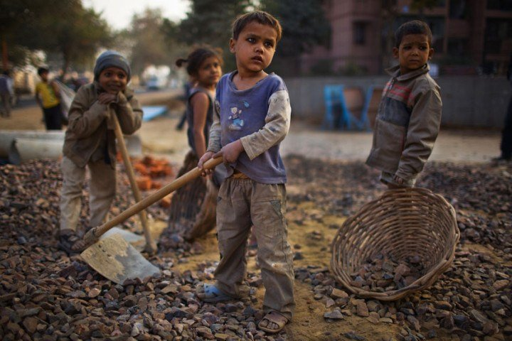 5. There are over 82 lakh child labourers (aged between 5 - 14 years) in India.